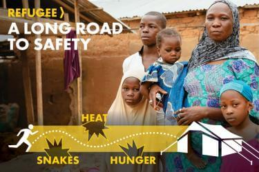 Refugee - A long road to safety - snakes, heat, hunger