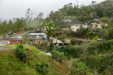 Hurricane Maria made landfall in Puerto Rico as a Category 4 storm, with sustained winds of 155 mph. It was the first Category 4 storm to make direct landfall in Puerto Rico since 1932, and has left a wide swath of damage across the island. In mountain communities like Maricao, seen here, power and water may not come back for months, or years.