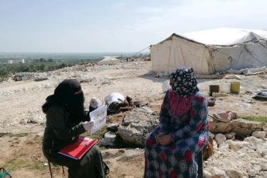In Syria, the spread of coronavirus brings the prospect of a deadly outbreak to a population with tightly-packed camps. Our teams are sharing information about COVID-19 and hand washing best practices with people who have been forced to flee their homes.