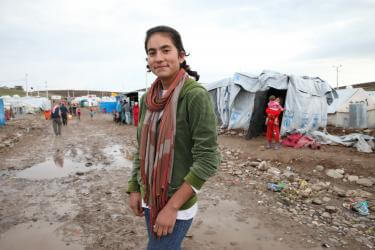 Young woman in Kawergosk refugee camp.