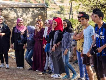 A group of young jordanians
