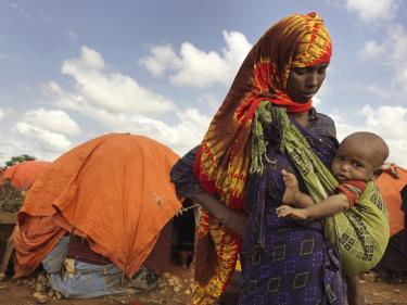 Somalian mother and child