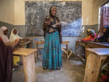 The right support can be transformative for youth in nigeria. suwaiba, 18, was so inspired by what she learned in mercy corps' safe space that she started leading her own, to help other girls in her community. photo: ezra millstein/mercy corps